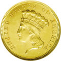 Three Dollar Gold Pieces: , 1886 $3 MS62 Prooflike NGC. The 1886 has a remarkably low mintageof 1,000 business strikes and 142 proofs. As a result, mu...
