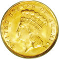 Three Dollar Gold Pieces: , 1888 $3 MS66 PCGS. The 1888 is another low mintage entry in thispopular series. Only 5,000 business strikes were produced,...