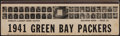 """Football Collectibles:Others, 1941 Green Bay Packers """"World's Largest Book of Matches"""" Piece. ..."""