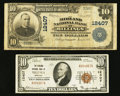 National Bank Notes:Montana, Billings, MT - $10 1902 Plain Back Fr. 635 and $10 1929 Ty. 1 The Midland NB Ch. # 12407. ... (Total: 2 notes)
