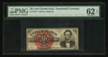 Fr. 1374 50¢ Fourth Issue Lincoln PMG Uncirculated 62 EPQ