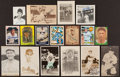 Baseball Collectibles:Photos, Baseball Greats Signed Cards and Postcards Lot of 17 (Two Unsigned). ...