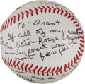 "Autographs:Baseballs, Dion Diamond ""Freedom Rider"" Single Signed Baseball With CivilRights Content...."