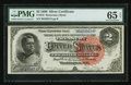 Large Size:Silver Certificates, Fr. 242 $2 1886 Silver Certificate PMG Gem Uncirculated 65 EPQ.. ...