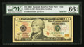 Solid Serial Number JB33333333C Fr. 2041-B $10 2009 Federal Reserve Note. PMG Gem Uncirculated 66 EPQ