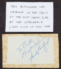 Baseball Collectibles:Others, Sandy Koufax Signed Cut Signature....