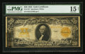 Large Size:Gold Certificates, Fr. 1187 $20 1922 Gold Certificate PMG Choice Fine 15 Net.. ...