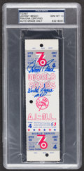 "Baseball Collectibles:Tickets, Johnny Bench ""World Series MVP"" Signed 1976 World Series Full ProofTicket PSA Gem Mint 10...."