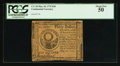 Colonial Notes:Continental Congress Issues, Continental Currency May 10, 1775 $30 PCGS About New 50.. ...