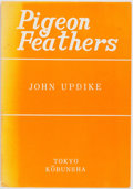 Books:Fiction, John Updike. SIGNED. Pigeon Feathers. Kobunsha, [n.d.]Japanese printing in English. Signed by the author on the...