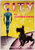 Books:Science Fiction & Fantasy, Clifford Simak. City. Gnome Press, 1952. First edition.Publisher's original cloth and dust jacket. Some rubbing...