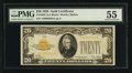 Small Size:Gold Certificates, Fr. 2402 $20 1928 Gold Certificate. PMG About Uncirculated 55.. ...