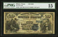 Shiner, TX - $20 1882 Value Back Fr. 581 The First NB Ch. # (S)5628