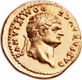 Ancients:Roman Imperial, Ancients: Domitian as Caesar (AD 69-81). AV aureus (21mm, 7.29 gm,6h). ...