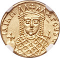 Ancients:Byzantine, Ancients: Irene, with Constantine VI (AD 780-797). AV solidus(21mm, 4.44 gm, 6h)....