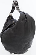 Luxury Accessories:Bags, Chanel Black Lambskin Leather Oversize Hobo Bag with GunmetalHardware. ...
