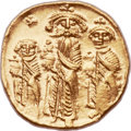Ancients:Byzantine, Ancients: Heraclius, with Heraclius Constantine and Heraclonas (AD610-641). AV solidus (21mm, 4.38 gm, 6h)....
