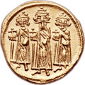 Ancients:Byzantine, Ancients: Heraclius, with Heraclius Constantine and Heraclonas (AD610-641). AV solidus (21mm, 4.46 gm, 6h)....