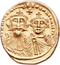 Ancients:Byzantine, Ancients: Heraclius, with Heraclius Constantine (AD 610-641). AVsolidus (22mm, 4.42 gm, 6h). ...