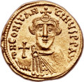 Ancients:Byzantine, Ancients: Constans II (AD 641-668). AV solidus (20mm, 4.41 gm,6h)....