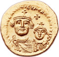 Ancients:Byzantine, Ancients: Heraclius, with Heraclius Constantine (AD 610-641). AVsolidus (21mm, 4.48 gm, 7h)....