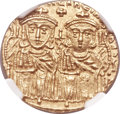 Ancients:Byzantine, Ancients: Leo IV, the Khazar (AD 775-780), with Constantine VI. AVsolidus (21mm, 4.42 gm, 6h)....