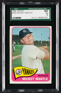 Baseball Cards:Singles (1960-1969), 1965 Topps Mickey Mantle #350 SGC 60 EX 5....