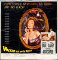 "Movie Posters:Bad Girl, Wicked as They Come (Columbia, 1956). Six Sheet (78"" X 79""). BadGirl.. ..."