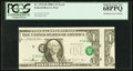 Error Notes:Miscellaneous Errors, Fr. 1915-H $1 1988A Federal Reserve Note. PCGS Superb Gem New68PPQ.. ...