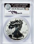 Modern Bullion Coins, 2011-P $1 Reverse Proof Silver Eagle, 25th Anniversary Set PR69PCGS. Ex: Signature of John M. Mercanti, 12th Chief Engrave...
