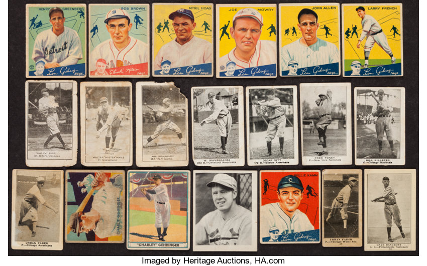 1916 1941 Vintage Baseball Card Collection 18 With Hofers