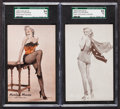Non-Sport Cards:Singles (Pre-1950), 1950's Exhibits Marilyn Monroe SGC Graded Pair (2). ...