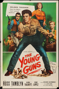 "The Young Guns & Other Lot (Allied Artists, 1956). One Sheets (2) (27"" X 41""). Western. ... (Total: 2 Item..."