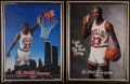 Basketball Collectibles:Photos, 1990 and 1991 Michael Jordan Coca Cola Promotional Posters Lot of2....