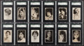 """Non-Sport Cards:Sets, 1928 Nicholas Sarony """"National Types of Beauty"""" SGC Graded Complete Set (36). ..."""