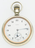 Timepieces:Pocket (post 1900), Elgin 17 Jewel Swing Out Pocket Watch. ...
