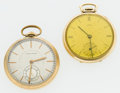 Timepieces:Pocket (post 1900), Waltham & Concord Open Face Pocket Watches Runners. ... (Total:2 Items)
