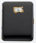 Timepieces:Other , Weldwood Watch Cigarette Case. ...