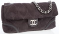 Luxury Accessories:Bags, Chanel Gray Microsuede Oversize Flap Bag with Silver Hardware. ...