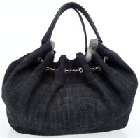 Chanel Denim Large Cabas Tote Bag with CC Detail