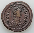 Ancients:Byzantine, Ancients: Anastasius I (AD 491-518). Æ follis (18.95 gm)....