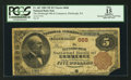 National Bank Notes:Pennsylvania, Pittsburgh, PA - $5 1882 Brown Back Fr. 467 The Pittsburgh NB ofCommerce Ch. # 668. ...