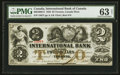 Canadian Currency: , Toronto, CW- The International Bank $2 Sept. 15, 1858 Ch. #380-10-08-12. ...