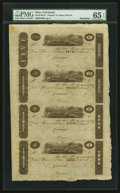 Obsoletes By State:Ohio, Cincinnati, (OH)- (John H. Piatt & Company) $5-$3-$2-$1 18__Remainder Uncut Sheet. ...