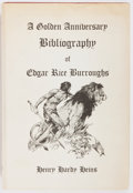 Books:Reference & Bibliography, Henry Hardy Heins, compiler and editor. A Golden AnniversaryBibliography of Edgar Rice Burroughs. Donald M. Gra...