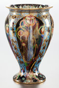 Decorative Arts, British:Other , A WEDGWOOD FAIRYLAND LUSTRE CANDLEMAS VASE. 20th century.Marks: WEDGWOOD, ENGLAND, Z5157 T. 9 inches hi...