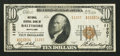 National Bank Notes:Maryland, Baltimore, MD - $10 1929 Ty. 2 National Central Bank Ch. # 11207....