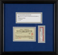 Baseball Collectibles:Tickets, 1930 New York Yankees Season Pass, PSA NM-MT 8 - Noting RuthMulti-HR Game....