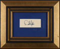 Baseball Collectibles:Others, Derek Jeter Signed Early Cut Signature....