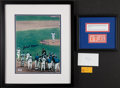Baseball Collectibles:Tickets, 1974 Hank Aaron Signed Photograph and 714/715 Tickets....